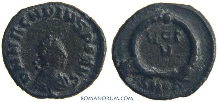 Ancient Coins - ARCADIUS. (AD 395-408) AE4, 1.12g.  Cyzicus. VOT V