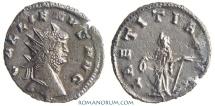 Ancient Coins - GALLIENUS. (AD 253-68) Antoninianus, 2.88g.  Mediolanum. LAETITIA AVG