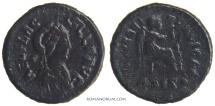 Ancient Coins - AELIA FLACCILA. (Wife of Theodosius I.  d. AD 386) AE4, 1.04g.  Siscia. Scarce.
