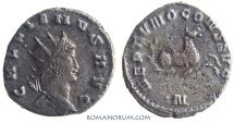 Ancient Coins - GALLIENUS. (AD 253-268) Antoninianus, 3.26g.  Mediolanum NEPTVNO CONS Nice hippocamp
