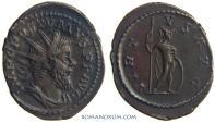 Ancient Coins - POSTUMUS. (AD 260-268) AR Antoninianus, 3.66g.  Lugdunum. Excellent portrait. Large, ovate flan.