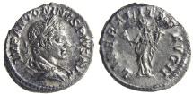 Ancient Coins - ELAGABALUS. (AD 218-222) Denarius, 3.18g.  Rome. Darkened, rough surfaces.