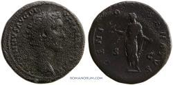 Ancient Coins - ANTONINUS PIUS. (AD 138-161 ) Sestertius, 25.47g.  Rome. Scarce. GENIO SENATVS