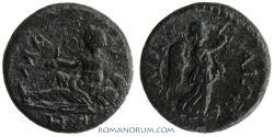 Ancient Coins - IONIA. Smyrna. River god Meles. (Pseudo-autonomous AE) AE15, 2.80g.