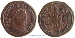 Ancient Coins - DIOCLETIAN. (AD 284-305) Follis, 8.42g.  Alexandria. GENIO POPVLI ROMANI. Featured in wildwinds.com