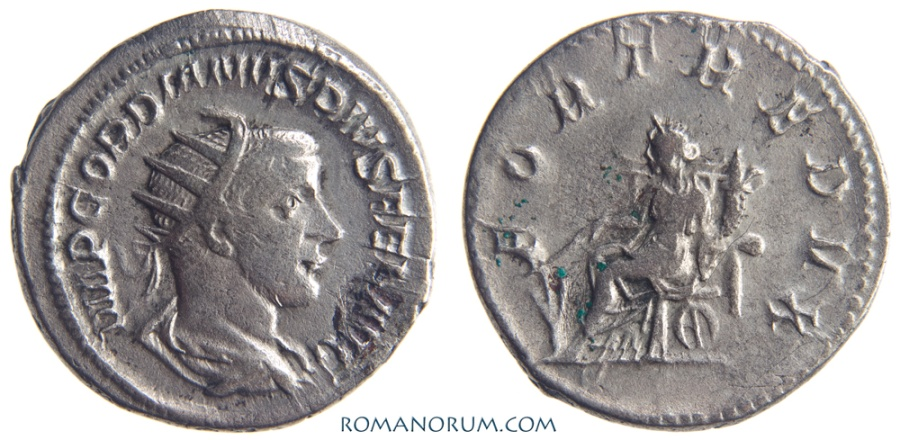Roman Coin Silver Antoninianus Gordian Iii 238-244 Ad Roman Imperial (235-476ad) Fortvna Redvx