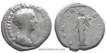 Ancient Coins - FAUSTINA JUNIOR. (Wife of Marcus Aurelius) Denarius, 2.92g.  Rome. Minted under Antoninus Pius