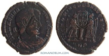 Ancient Coins - MAGNENTIUS. (AD 350-353) AE Centenionalis, 5.89g.  Trier. Overstruck (on a Constantinian coin, perhaps)