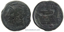 Ancient Coins - Anonymous Uncia. (217-215 BC) Uncia, 12.41g.  Rome.