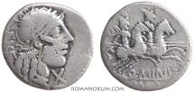 Ancient Coins - Q. MINUCIUS RUFUS. (122 BC) Denarius, 3.61g.  Rome. The strange