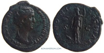 Ancient Coins - FAUSTINA SENIOR. (AD 138-141) As, 10.08g.  Rome. IVNONI REGINAE Scarce lifetime issue