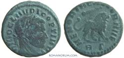 Ancient Coins - Claudius II, Gothicus. Commemorative issue by Constantine I. (AD 268-270) Half nummus, 2.42g.  Rome. Extremely rare