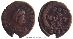 Ancient Coins - THEODOSIUS I. (AD 378-395) AE4, 1.01g.  Alexandria. Excellent reverse. Scarce.