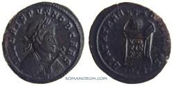 Ancient Coins - CRISPUS. (AD 317-326 ) AE3, 2.83g.  Trier. BEATA TRANQVILLITAS Actually rare.
