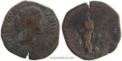 Ancient Coins - CRISPINA. (AD 178-182) Sestertius, 22.21g.  Rome.