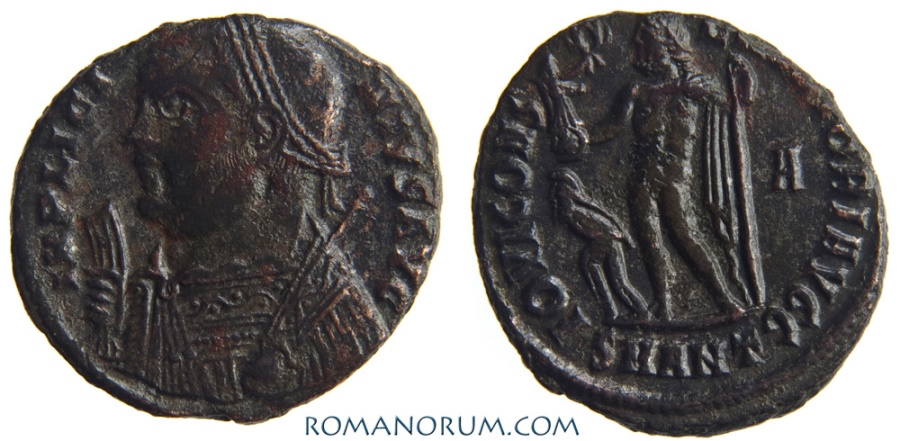Ancient Coins - LICINIUS. (AD 308-324) AE3, 2.88g.  Antioch. IOVI CONSERVATORI. Great detail