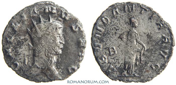 Ancient Coins - GALLIENUS. (AD 253-268 ) Antoninianus, 2.74g.  Rome. ABVNDANTIA. Silvered.