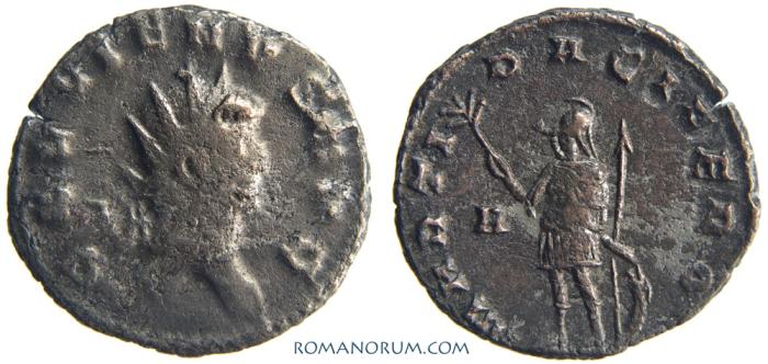 Ancient Coins - GALLIENUS. (AD 253-268 ) Antoninianus, 3.04g.  Rome. MARTI PACIFERO