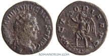 Ancient Coins - TREBONIANUS GALLUS. (AD 251-253) Antoninianus, 3.74g.  Antioch. VICTORIA AVG Four dots on exergue.
