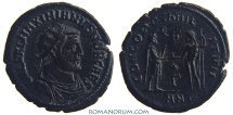 Ancient Coins - GALERIUS. (AD 293-311) Antoninianus, 2.68g.  Antioch. CONCORDIA MILITVM Wonderful Black Patina.