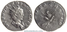 Ancient Coins - VALERIAN II. (AD 256-58) Antoninianus, 1.78g.  Rome CONSACRATIO Used to be rare.