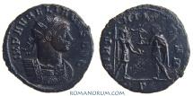 Ancient Coins - AURELIAN. (AD 270-275) Antoninianus, 4.23g.  Milan. VIRT MILITVM Scarce reverse.