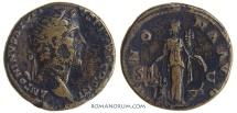 Ancient Coins - ANTONINUS PIUS. (AD 138-161) Dupondius, 12.55g.  Rome. Not common for this type.