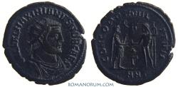 Ancient Coins - GALERIUS. (AD 293-311) Antoninianus, 2.68g.  Antioch. CONCORDIA MILITVM Wonderful Black Patina.