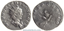 Ancient Coins - VALERIAN II. (AD 256-58) Antoninianus, 1.78g.  Rome CONSACRATIO Used to be rare.