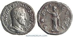 Ancient Coins - MAXIMINUS. (AD 235-238) Denarius, 2.87g.  Rome. PAX AVGVSTI