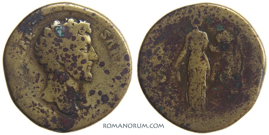 Ancient Coins - MARCUS AURELIUS. (AD 161-180) Sestertius, 26.91g.  Rome. Well circulated