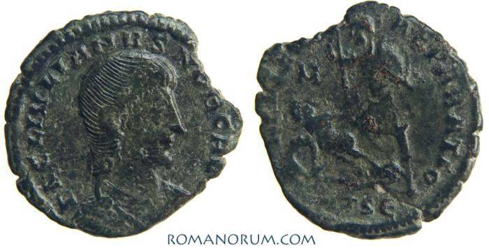 Ancient Coins - JULIAN II, The Apostate as Caesar (AD 355-363) AE 3, 2.12g.  Thessalonica. FEL TEMP