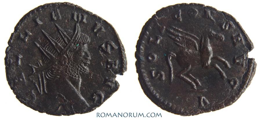 Ancient Coins - GALLIENUS. (AD 253-268 ) Antoninianus, 2.97g.  Rome. Scarcer Pegasus.