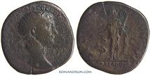 Ancient Coins - TRAJAN. (AD 98-117) Dupondius, 13.50g.  Rome. Celebrating conquest of Arabia Petrea