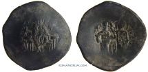 Ancient Coins - MANUEL I COMNENOS. (1143 -1180) Aspron trachy, 3.66g.  Constantinople. Some silvering remnants.
