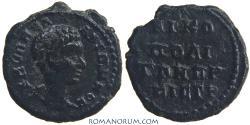 Ancient Coins - DIADUMENIAN. (AD 217-18) AE 17 Assarion, 2.56g.  Nicopolis ad Istrum. Featured in wildwinds.com. Same dies as HrHJ