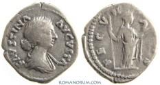 Ancient Coins - FAUSTINA JUNIOR. (Wife of Marcus Aurelius) Denarius, 3.30g.  Rome. FECVNDITAS, very appropriately. Wonderful portrait.