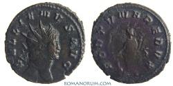 Ancient Coins - GALLIENUS. (AD 253-268) Antoninianus, 2.90g.  Rome. FORTVNA REDVX Clashed dies (restruck brockage)