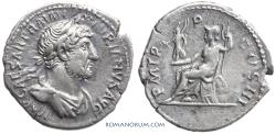 Ancient Coins - HADRIAN. (AD 117-138) Denarius, 3.09g.  Rome.