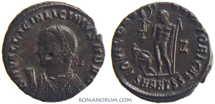 Ancient Coins - LICINIUS II. (AD 317-324) AE 3, 2.65g.  Antioch. Crowded mint mark.