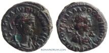 Ancient Coins - VABALATHUS and AURELIAN. (AD 270-275 ) Tetradrachm. 10.21g.  Alexandria. Full legends, great portraits.