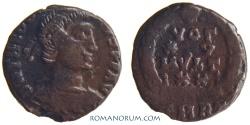 Ancient Coins - THEODOSIUS I. (AD 378-395) AE4, 1.41g.  Rome. Scarce VOT XV