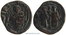Ancient Coins - CONSTANTINE X DUCAS. (1059-67) Follis, 10.38g.  Constantinopla. Overstruck on a class E anonymous follis.