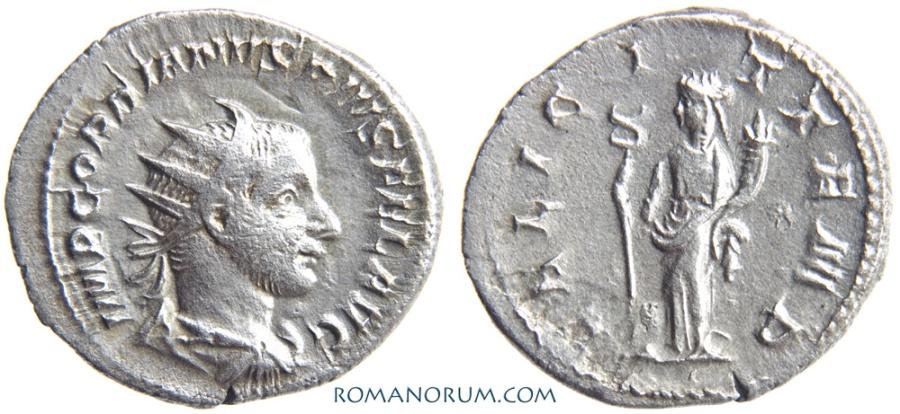 Ancient Coins - GORDIAN III. (AD 238-244) Antoninianus, 3.65g.  Rome. FELICIT TEMP