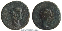 Ancient Coins - AUGUSTUS and RHOEMETALCES I. (11 BC - AD 12) AE19, 3.49g.  Thrace. Countermarked