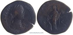 Ancient Coins - LUCILLA. (Sister of Commodus, wife of Lucius Verus) Sestertius, 21.18g.  Rome.