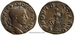 Ancient Coins - SEVERUS ALEXANDER. (AD 222-235) Sestertius, 22.09g.  Rome.