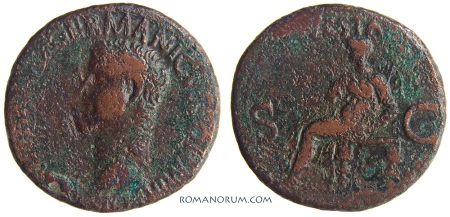 Ancient Coins - CALIGULA. (AD 37-41) As, 10.83g.  Rome. VESTA
