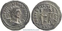 Ancient Coins - PROBUS. (AD 276-282) Antoninianus, 4.41g.  Tripolis. CLEMENTIA TEMP