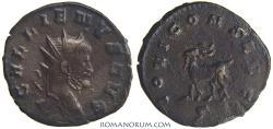 Ancient Coins - GALLIENUS. (AD 253-268) Antoninianus, 3.37g.  Rome. Goat-nurse of Jupiter, Amalthea.